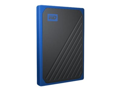 WD My Passport Go WDBMCG5000ABT - Solid state drive - 500 GB - external (portable) - USB 3.0 - black with cobalt trim