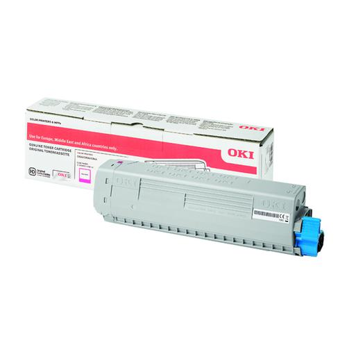 OKI - Magenta - original - toner cartridge - for C824dn, 824n, 834dnw, 834nw