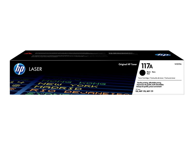 HP 117A - Black - original - toner cartridge (W2070A) - for Color Laser 150a, 150nw, MFP 178nw, MFP 178nwg, MFP 179fnw, MFP 179fwg