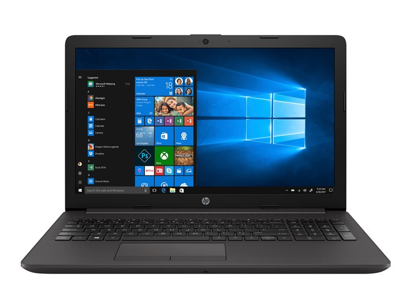 HP 255 G7 - Ryzen 5 2500U / 2 GHz - Win 10 Pro 64-bit - 8 GB RAM - 256 GB SSD - DVD-Writer - 15.6 1366 x 768 (HD) - AMD Radeon Vega - Wi-Fi, Bluetooth - dark ash silver - kbd: UK