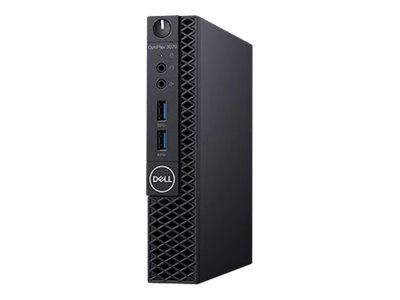 Optiplex 3070 MFF Micro Form Factor Intel Core i5-9500T (9M Cache, up to 3.7 GHz) 8GB (1x8GB) 2666MHz DDR4 256GB SSD PCIe M.2  Integrated     Qualcomm QCA9377 Dual Band Wireless+Bluetooth, Keyboard  Dell Optical USB Mouse  65