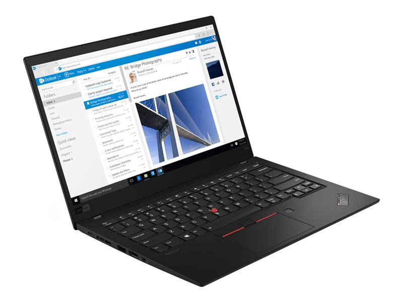 Lenovo ThinkPad X1 Carbon (7th Gen) 20QD - Ultrabook - Core i7 8565U / 1.8 GHz - Win 10 Pro 64-bit - 16 GB RAM - 512 GB SSD TCG Opal Encryption 2, NVMe - 14 IPS 1920 x 1080 (Full HD) - UHD Graphics 620 - Wi-Fi, NFC, Bluetoot