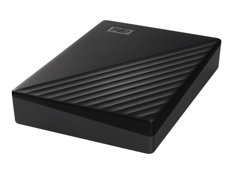 WD My Passport WDBPKJ0040BBK - Hard drive - encrypted - 4 TB - external (portable) - USB 3.2 Gen 1 - 256-bit AES - black