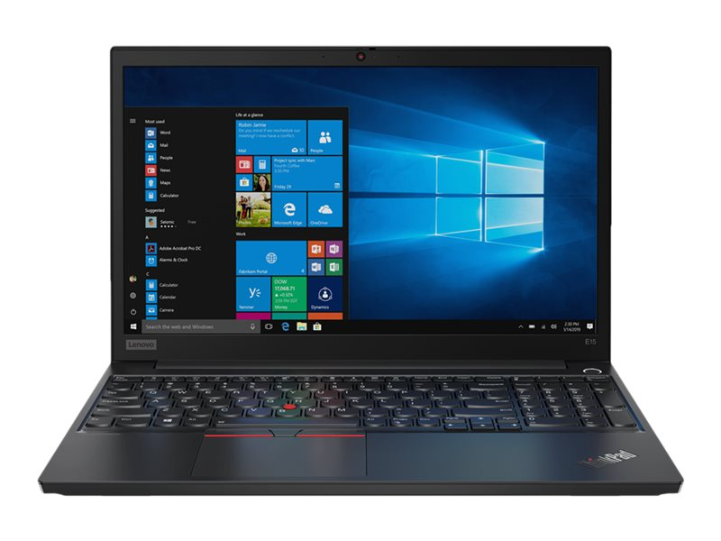 Lenovo ThinkPad E15 20RD - Core i5 10210U / 1.6 GHz - Win 10 Pro 64-bit - 8 GB RAM - 256 GB SSD NVMe - 15.6 IPS 1920 x 1080 (Full HD) - UHD Graphics - Bluetooth, Wi-Fi - black - kbd: UK