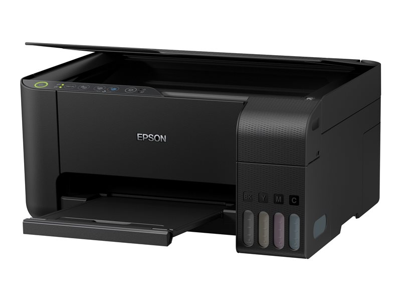 Epson EcoTank ET-2710 Unlimited - Multifunction printer - colour - ink-jet - refillable - A4/Legal (media) - up to 33 ppm (printing) - 100 sheets - USB, Wi-Fi - black