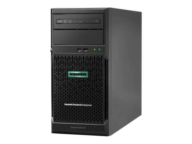 HPE ProLiant ML30 Gen10 - Server - tower - 4U - 1-way - 1 x Xeon E-2234 / 3.6 GHz - RAM 16 GB - SATA - hot-swap 3.5 - no HDD - GigE - monitor: none