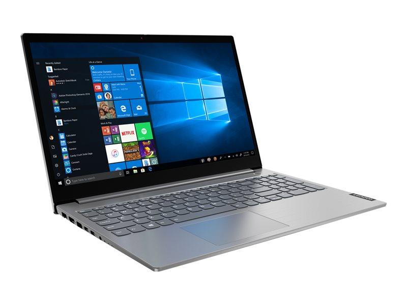 Lenovo ThinkBook 15-IIL 20SM - Core i7 1065G7 / 1.3 GHz - Win 10 Pro 64-bit - 16 GB RAM - 512 GB SSD - 15.6 IPS 1920 x 1080 (Full HD) - Iris Plus Graphics - Bluetooth, Wi-Fi - mineral grey - kbd: UK