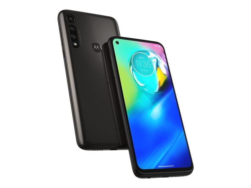 Motorola Moto G8 Power - Smartphone - dual-SIM - 4G LTE - 64 GB - microSD slot - 6.4 - 2300 x 1080 pixels (399 ppi) - IPS - RAM 4 GB - 4x rear cameras 16 MP front camera - Android - black smoke