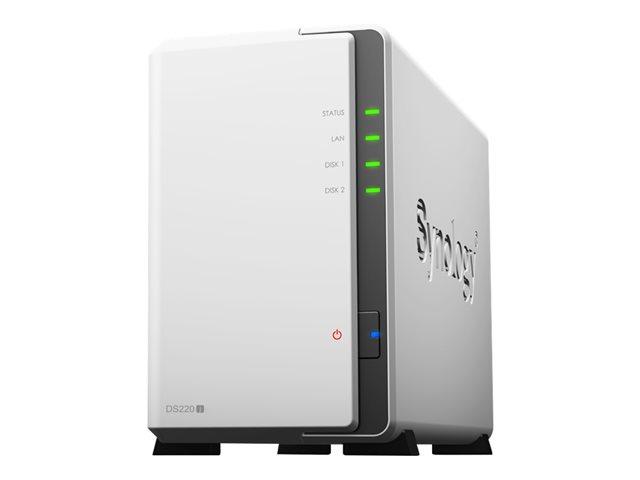 Synology Disk Station DS220j - NAS server - 2 bays - SATA 6Gb/s - RAID 0, 1, JBOD - RAM 512 MB - Gigabit Ethernet - iSCSI
