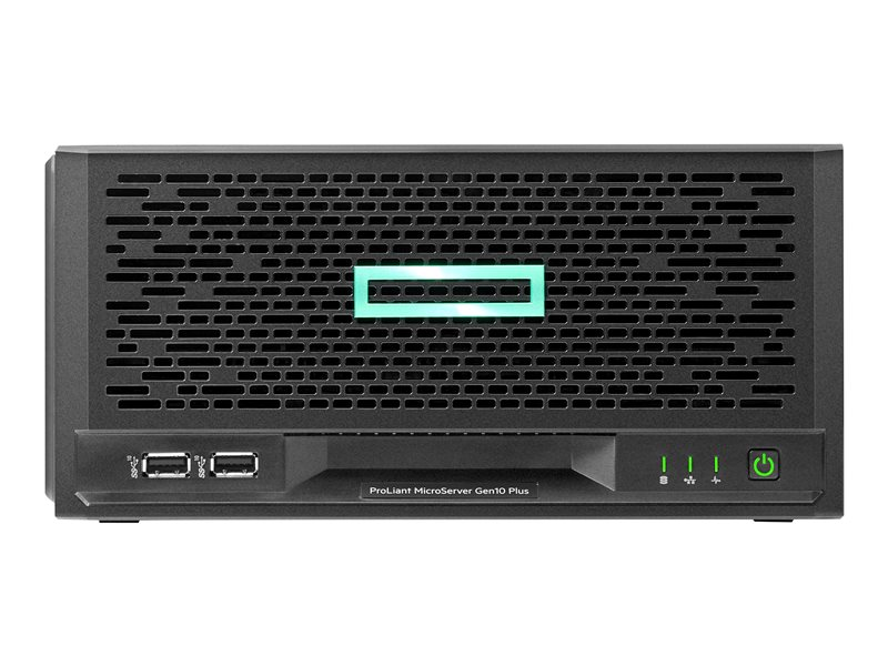 HPE ProLiant MicroServer Gen10 Plus Entry - Server - ultra micro tower - 1-way - 1 x Pentium Gold G5420 / 3.8 GHz - RAM 8 GB - SATA - non-hot-swap 3.5 bay(s) - no HDD - UHD Graphics 610 - GigE - no OS - monitor: none