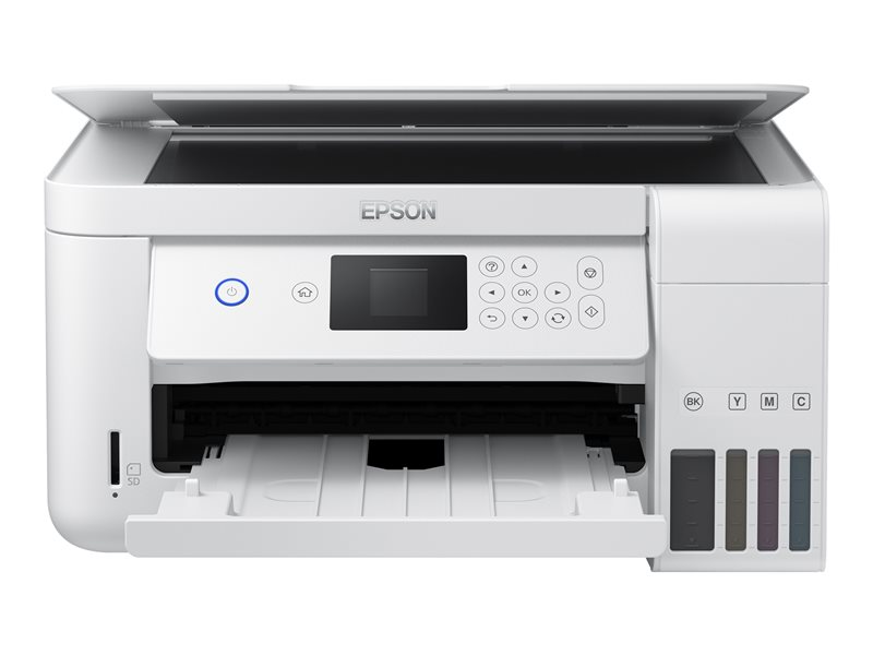Epson EcoTank ET-2756 - Multifunction printer - colour - ink-jet - refillable - A4/Legal (media) - up to 33 ppm (printing) - 100 sheets - USB, Wi-Fi - white