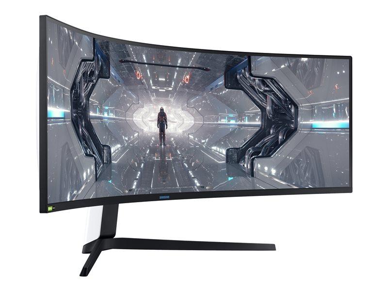 Samsung Odyssey G9 C49G95TSSU - G95T Series - QLED monitor - curved - 49 - 5120 x 1440 Dual Quad HD - VA - 1000 cd/m? - 2500:1 - 1 ms - 2xHDMI, DisplayPort - black