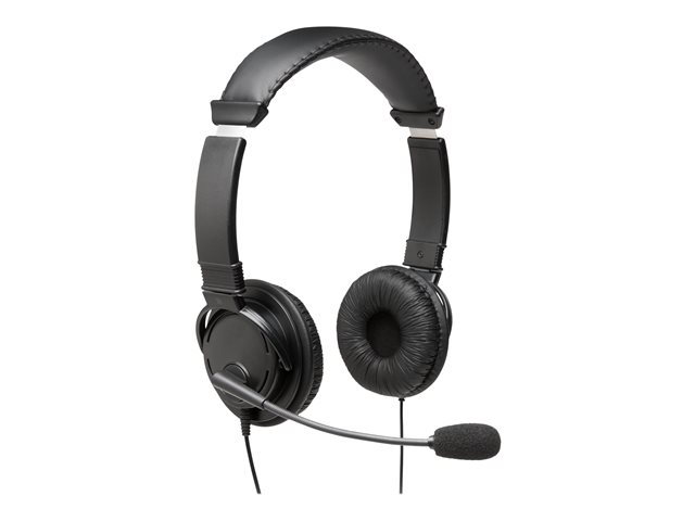 Kensington USB Hi-Fi Headphones with Mic - Headset - on-ear - wired - USB-A - black