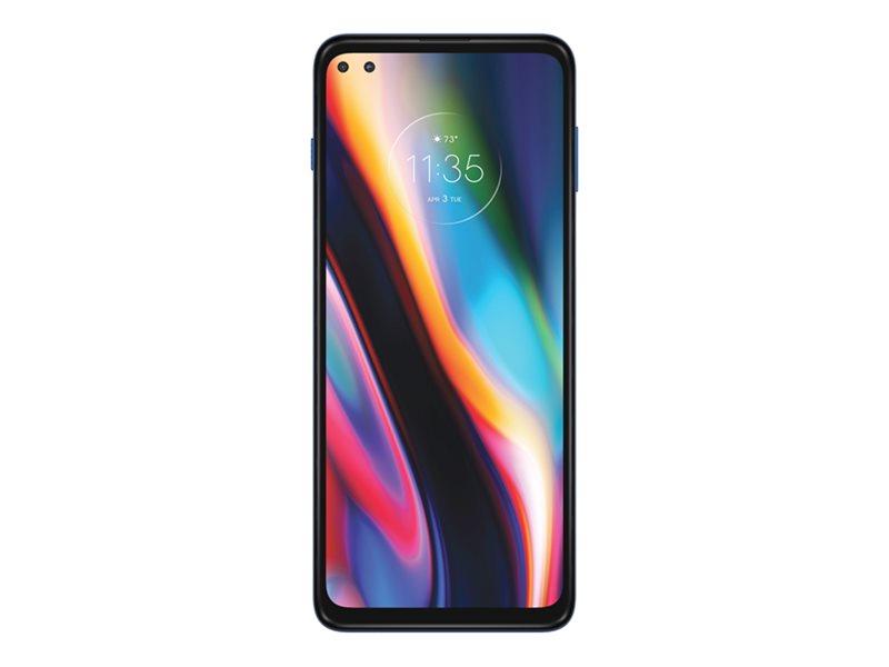 Motorola Moto G 5G Plus - Smartphone - dual-SIM - 5G NR - 64 GB - microSDXC slot - GSM - 6.7 - 2520 x 1080 pixels (409 ppi) - LTPS - RAM 4 GB - 4x rear cameras (2x front cameras) - Android - surfing blue