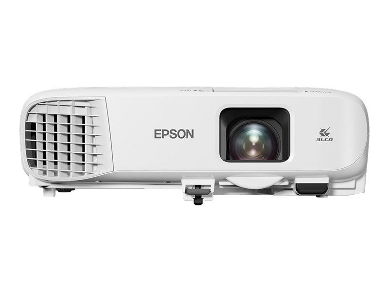 Epson EB-E20 - 3LCD projector - portable - 3400 lumens (white) - 3400 lumens (colour) - XGA (1024 x 768) - 4:3 - white