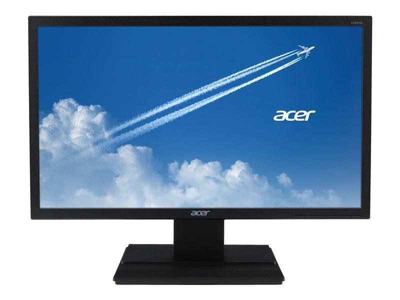 Acer V246HQL bi - LED monitor - 23.6 - 1920 x 1080 Full HD (1080p) @ 60 Hz - VA - 250 cd/m?- 3000:1 - 5 ms - HDMI, VGA - black