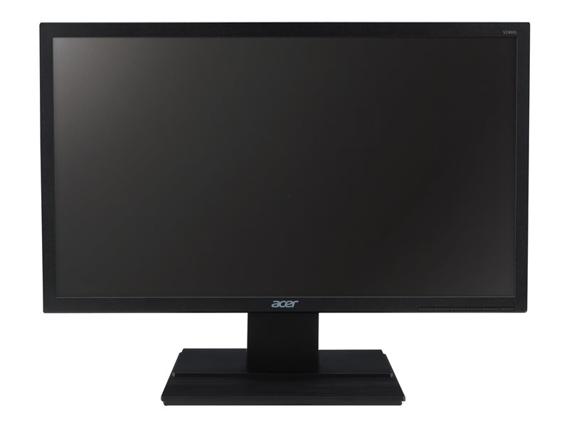 Acer V246HL bid - LED monitor - 24 - 1920 x 1080 Full HD (1080p) @ 60 Hz - TN - 250 cd/m?- 5 ms - HDMI, DVI, VGA - black