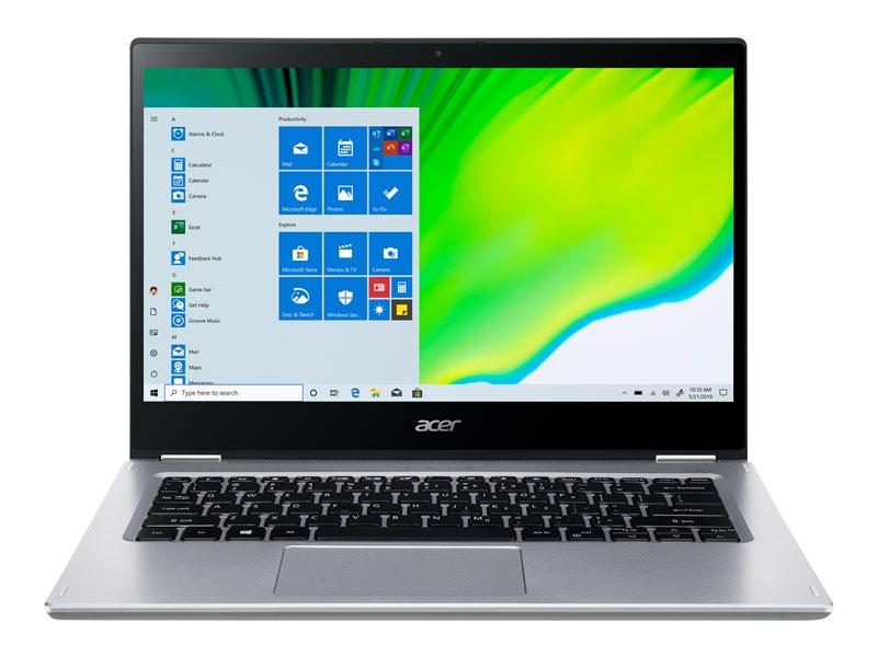 Acer Spin 3 SP314-21-R1B3 - Flip design - Ryzen 3 3250U / 2.6 GHz - Windows 10 Home 64-bit in S mode - 4 GB RAM - 128 GB SSD - 14 touchscreen 1920 x 1080 (Full HD) - Radeon Graphics - Wi-Fi 5, Bluetooth - pure silver - kbd: