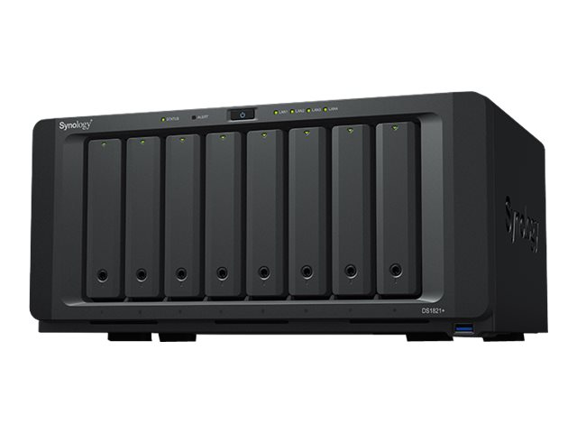 Synology Disk Station DS1821+ - NAS server - 8 bays - SATA 6Gb/s - RAID 0, 1, 5, 6, 10, JBOD - RAM 4 GB - Gigabit Ethernet - iSCSI
