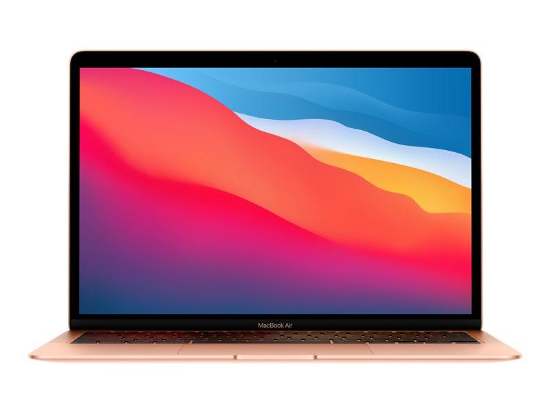 Apple MacBook Air with Retina display - M1 - macOS Big Sur 11.0 - 8 GB RAM - 512 GB SSD - 13.3 IPS 2560 x 1600 (WQXGA) - M1 8-core GPU - Bluetooth, Wi-Fi 6 - gold - kbd: UK