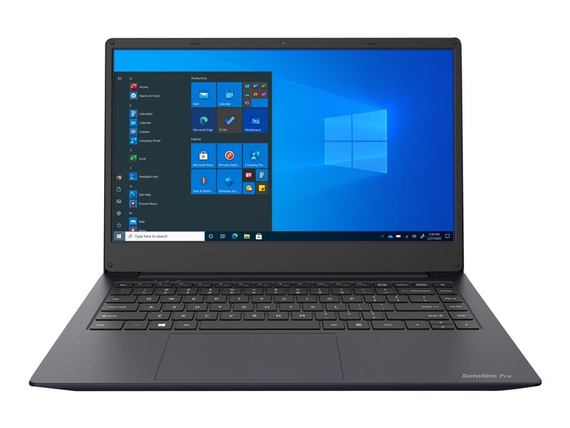 Dynabook Satellite Pro C40-H-10F - Core i5 1035G1 / 1 GHz - Windows 10 Pro National Academic - 8 GB RAM - 256 GB SSD - 14 1366 x 768 (HD) - UHD Graphics - Wi-Fi, Bluetooth - dark blue, black (keyboard)
