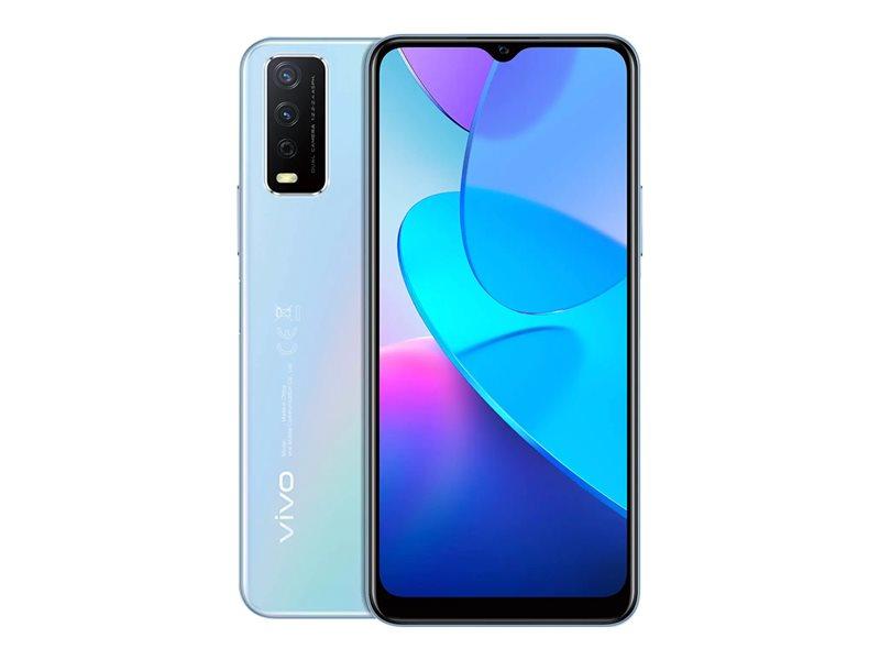 Vivo Y11S - 4G smartphone - dual-SIM - RAM 3 GB / 32 GB - microSD slot - LCD display - 6.51 - 1600 x 720 pixels - 2x rear cameras 13 MP, 2 MP - front camera 8 MP - glacier blue